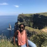 Ashley Jacques '20 (BUS) at the Cliffs of Moher, in County Clare, Ireland. (Submitted Photo)