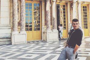 Preston Bogan '19 (CLAS) at the Palace of Versailles during an Education Abroad program in Paris. (Submitted Photo)