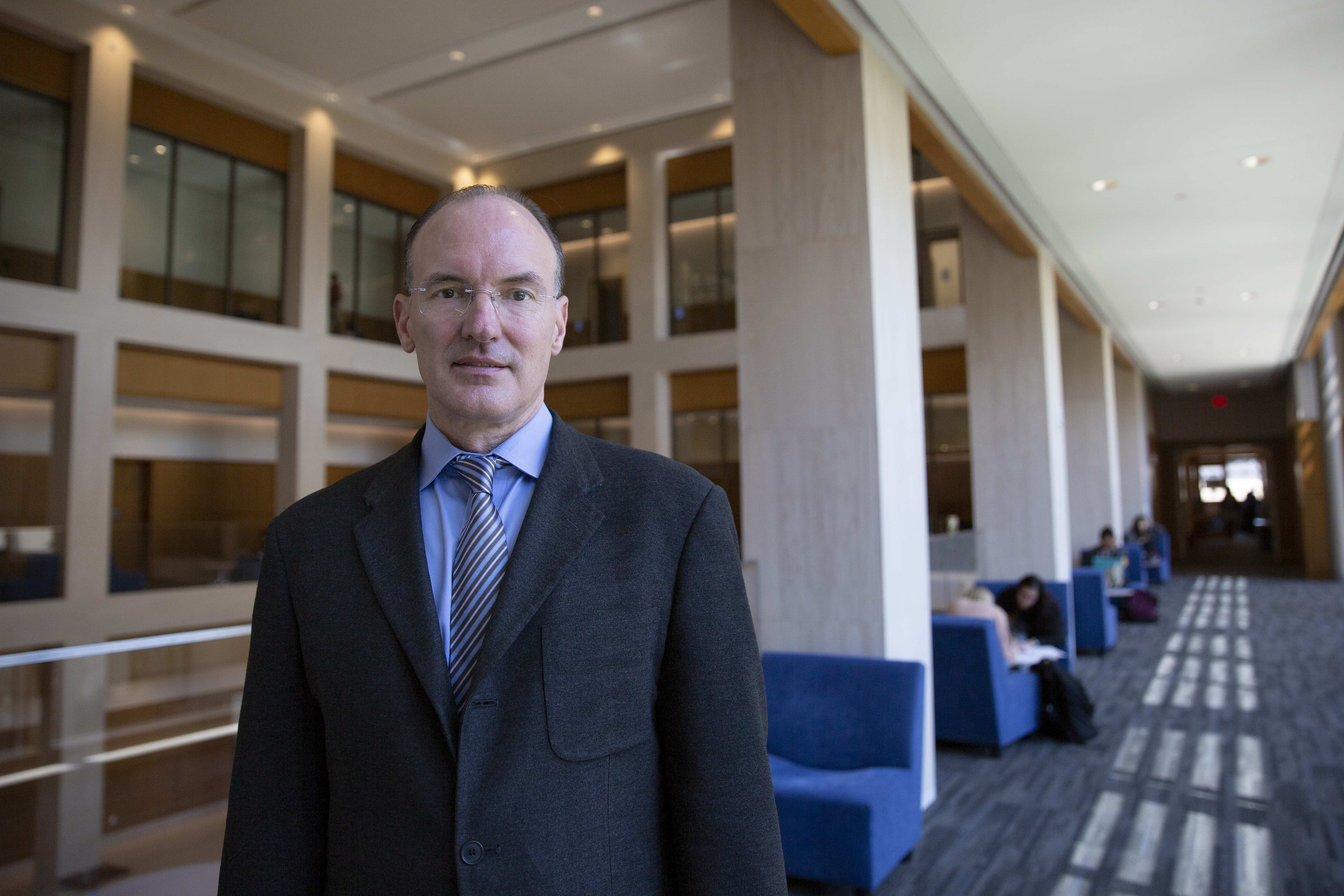 Thomas Craemer, associate professor of public policy, at the UConn Hartford campus. (Bri Diaz/UConn Photo)