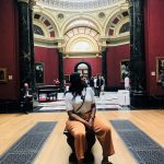Drew Asia-Keating inside the National Portrait Gallery in London.
