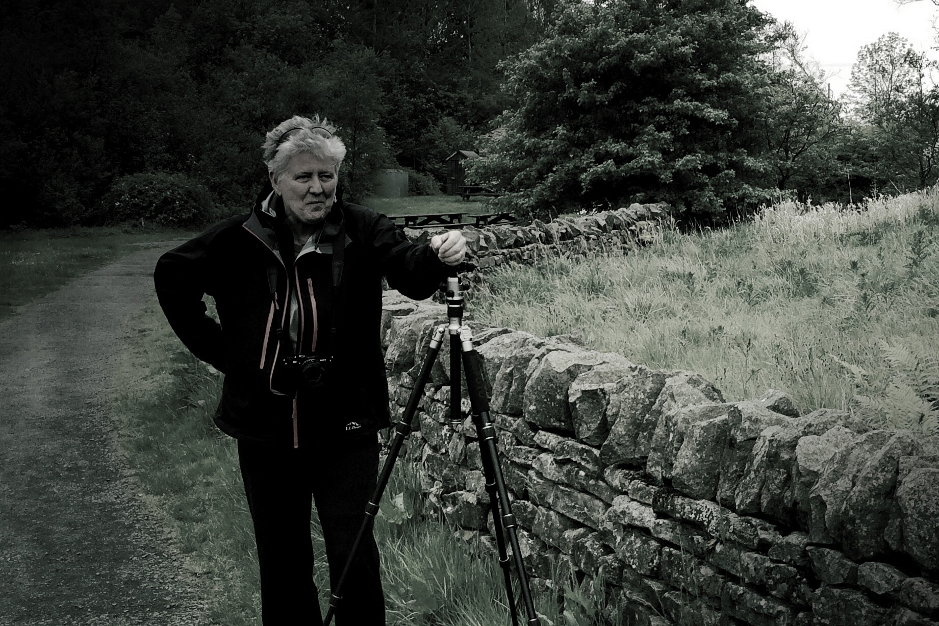 Janet Pritchard in the field in northern England, working on a project about Hadrian's Wall, which was built by the Romans as the northwest frontier of their empire. (Judith Thorpe Photo)