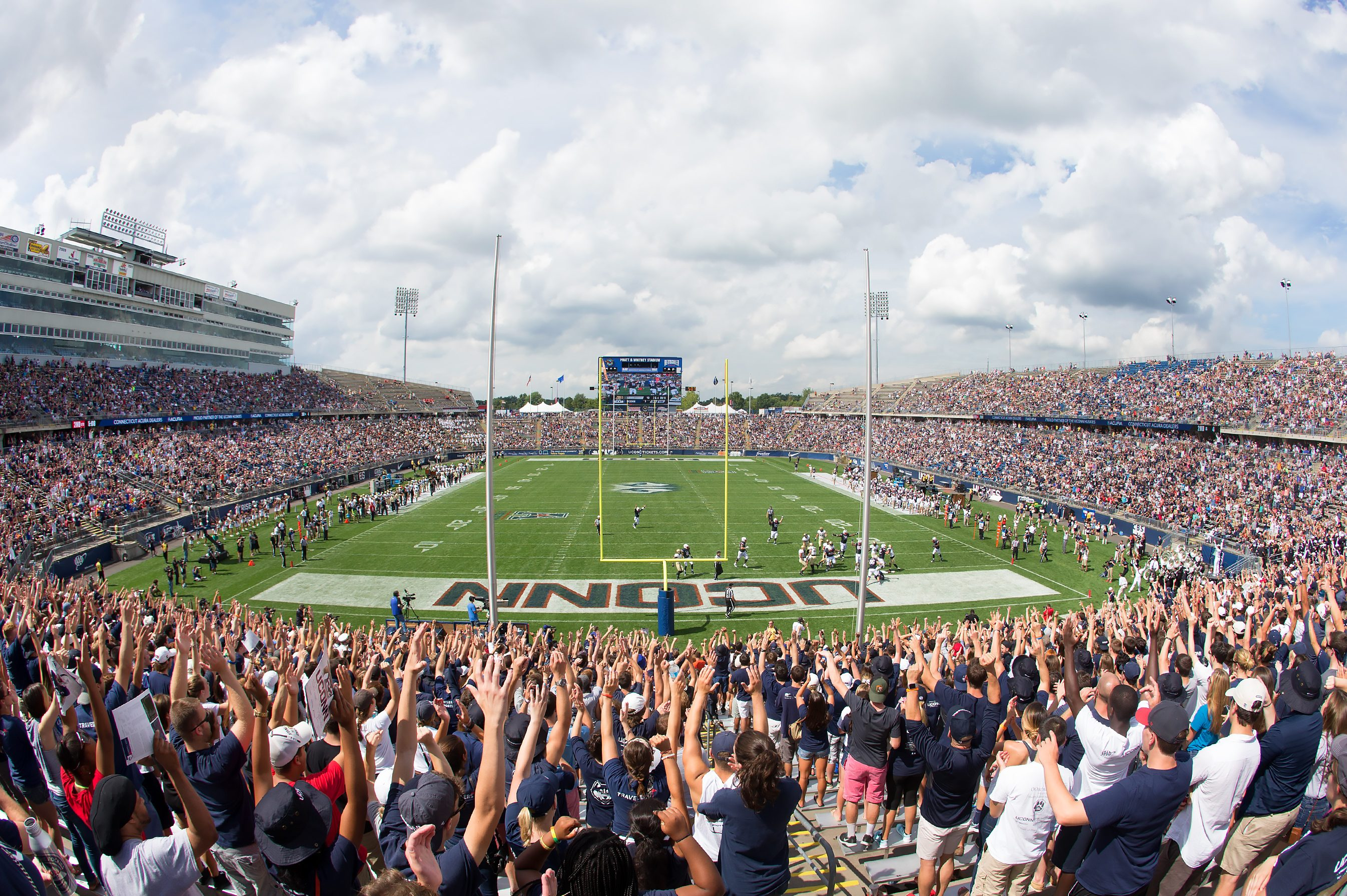 A UConn Football home game at Pratt & Whitney Stadium at Rentschler Field. (Stephen Slade '89 (SFA) for UConn)