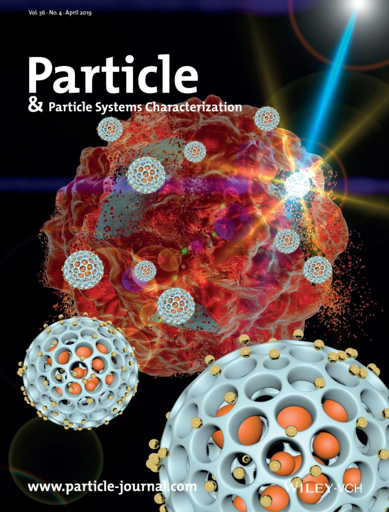 Cover of the April 2019 Issue of the journal Particle & Particle Systems Characterization