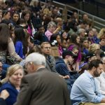 An audience of family members and educators packed Gampel Pavilion before the awards ceremony began. Awards were given from sponsors including Black and Decker, ESPN, and 3M. (Lucas Voghell '20 (CLAS)/UConn Photo)