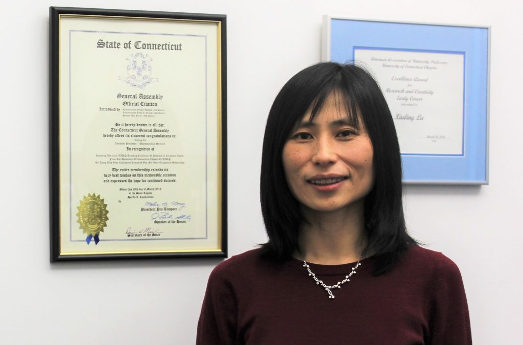 Xiuling Lu, Associate Professor of Pharmaceutics in the department of Pharmaceutical Sciences.