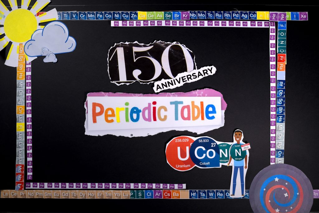 UConn celebrates the 150th anniversary of the periodic table. (Thomas Rettig/UConn Photo)