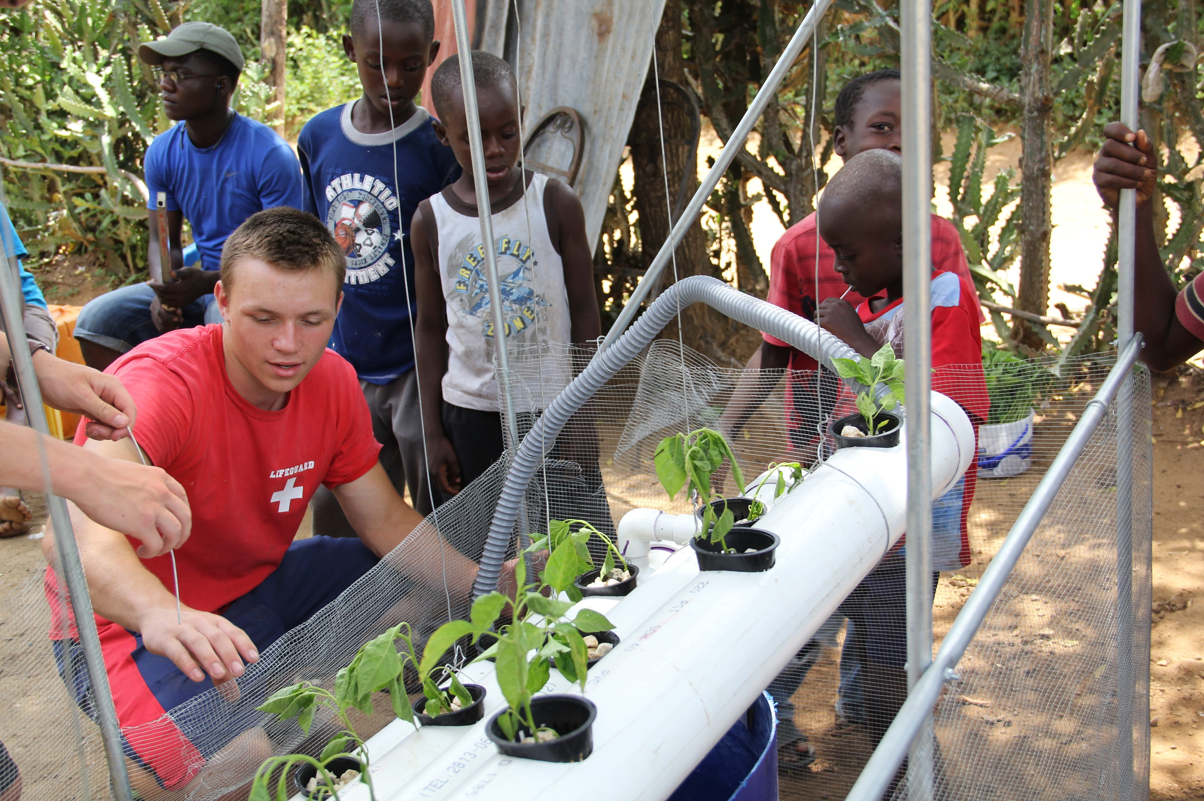 Christian Heiden '20 (ENG) started a non-profit organization called Levo International to bring hydroponics to those in need in Haiti.
