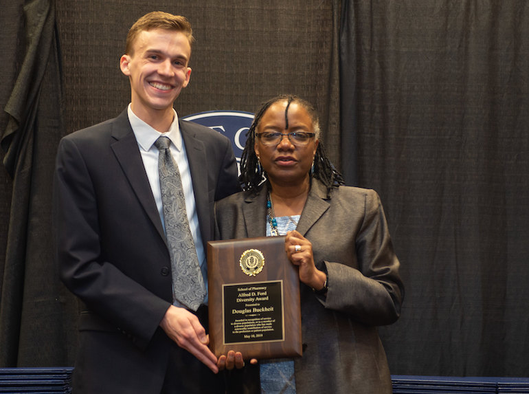 Douglas Buckheit Receives the Alfred D. Ford Diversity Award from by Anita Ford Saunders