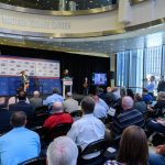 UConn's return to the Big East athletic conference was announced at an event held at Chase Square at Madison Square Garden in Manhattan on June 27, 2019. (Peter Morenus/UConn Photo)