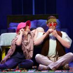 Jessica Hendy (Donna) and Rob Barnes (Harry) in Mamma Mia! (Gerry Goodstein for UConn)