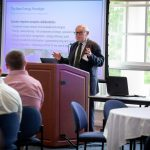 Raymond Petniunas, Managing Principal at Utility Resource Consulting Inc., at the Eversource Energy Center's Grid Modernization Summit on June 6, 2019. (Christopher Larosa/UConn Photo).