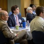 Attendees at the 2019 Eversource Energy Center's Grid Modernization Summit on June 6, 2019. (Christopher Larosa/UConn Photo).