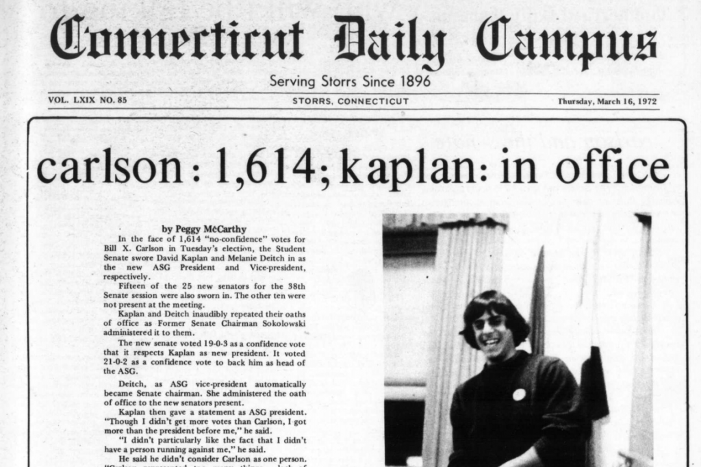 In a podcast interview, Barry Berman '72 details how Bill X. Carlson, UConn's most famous non-existent student, came to be. (University Library Archives & Special Collections)