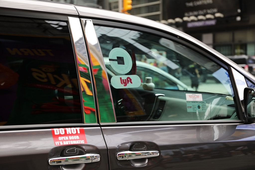 A Lyft car in New York City. (Getty Images)