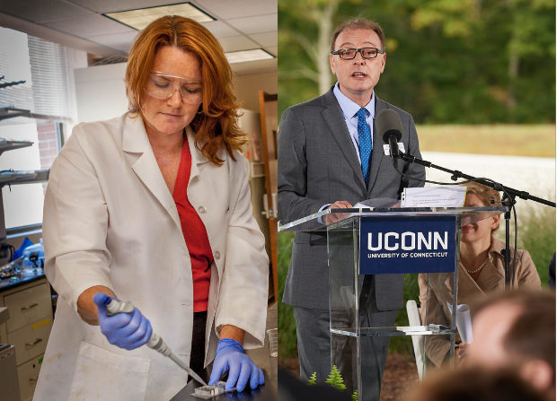 Dr. Leslie Shor (left) and Dr. Pamir Alpay (right) are both taking over as associate deans of the UConn School of Engineering (UConn School of Engineering)