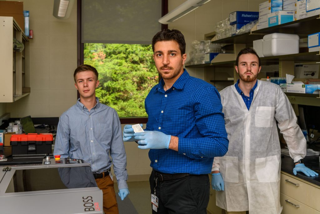 The QRFertile lab at the Technology Incubator Program (TIP) space at the Cell and Genome Sciences Building in Farmington on June 14, 2019. (Peter Morenus/UConn Photo)