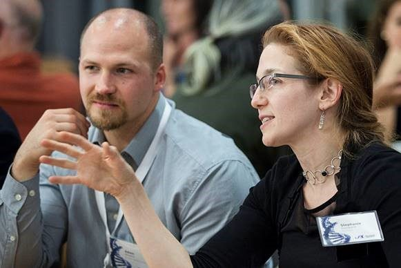 Adam Williams, of UConn Health and Jackson Laboratory, and Stephanie Eisenbarth of Yale University, in Farmington. (Jackson Laboratory Photo)