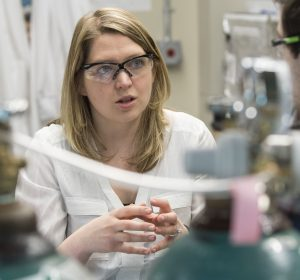 Jessica Rouge, assistant professor of chemistry. (Sean Flynn/UConn Photo)