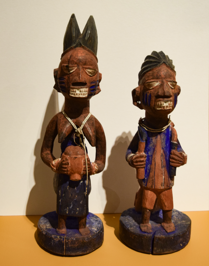 Yoruba Artist (Nigeria) Polychrome Figures, Gift of Janine and Josef Gugler, William Benton Museum of Art.