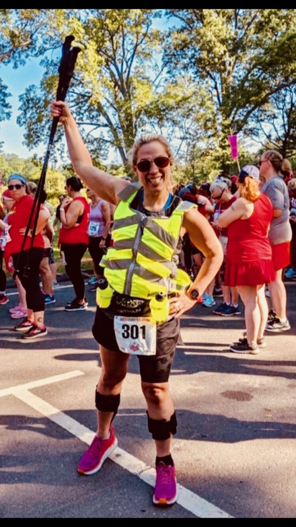 Marisa Boasa, who runs with ankle-foot orthosis braces (AFOs), isn't letting multiple sclerosis keep her from continuing as a competitive athlete. (Photo provided by Marisa Boasa)