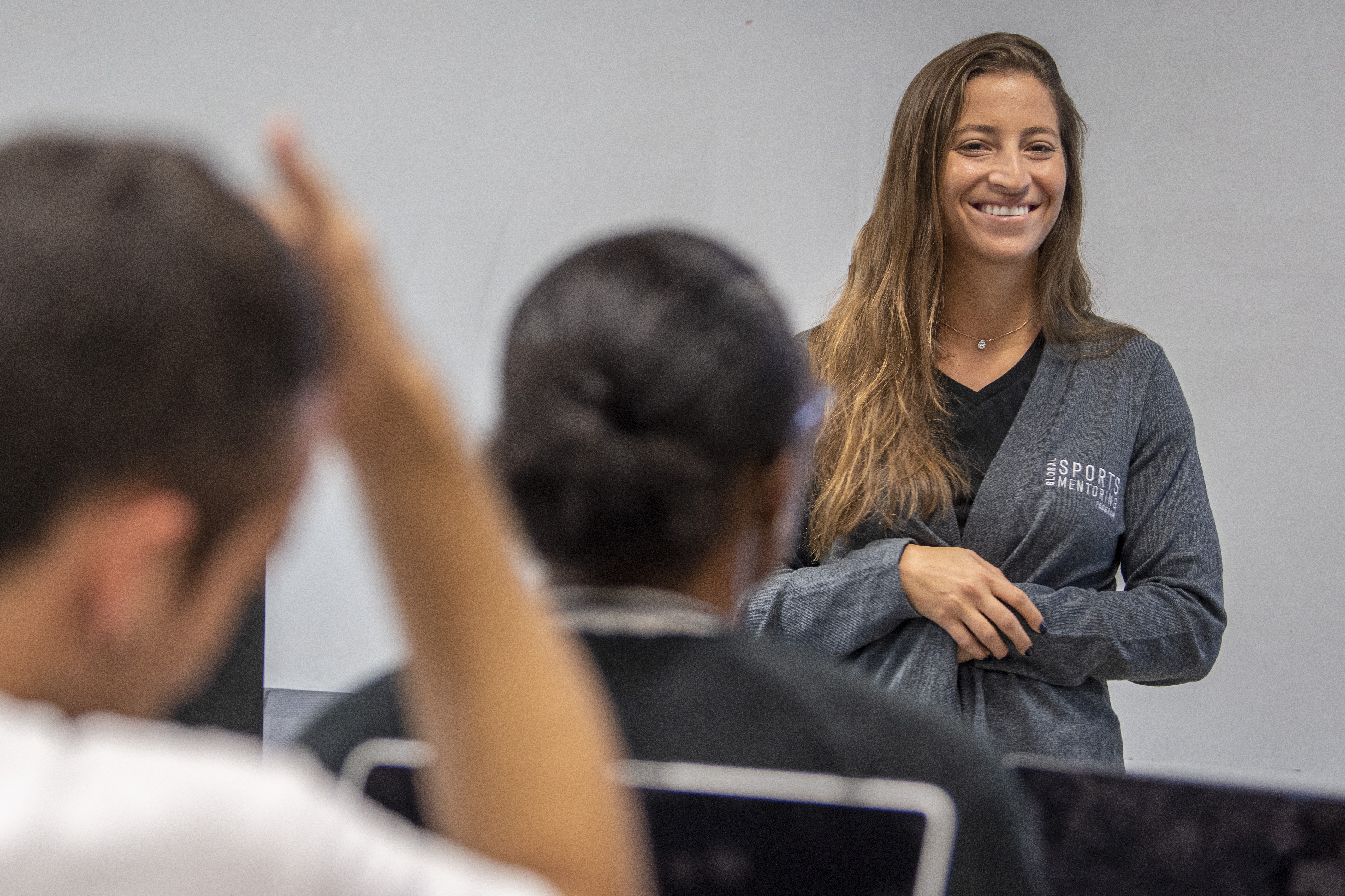 Karen Chammas from Lebanon is visiting UConn's Sport Management faculty as part of a Global Mentorship Program. (Sean Flynn/UConn Photo)