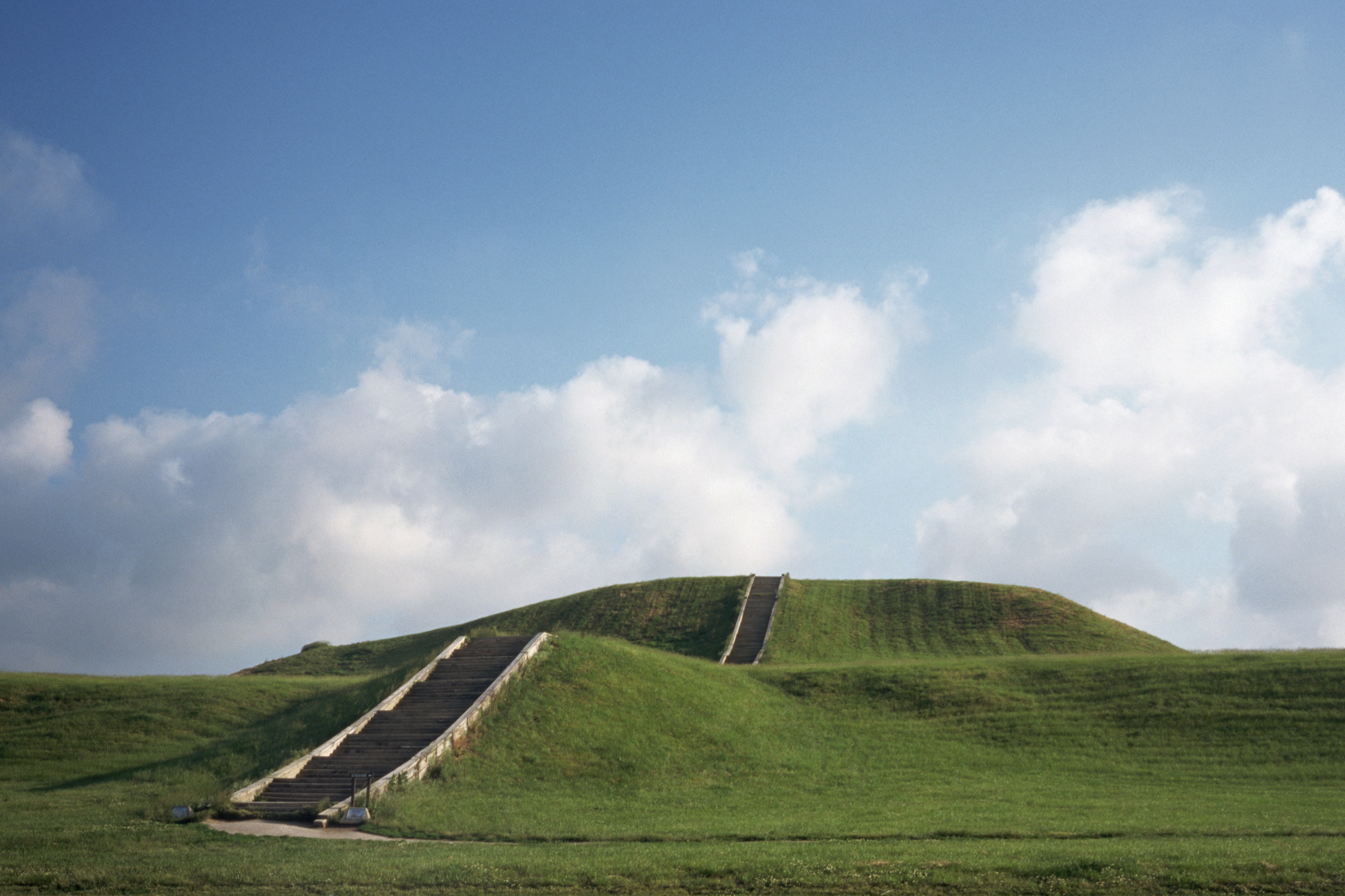 A mound at the ancient North American settlement of Cahokia.
