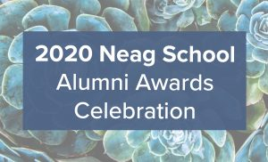 Neag School Alumni Awards 2020 logo.