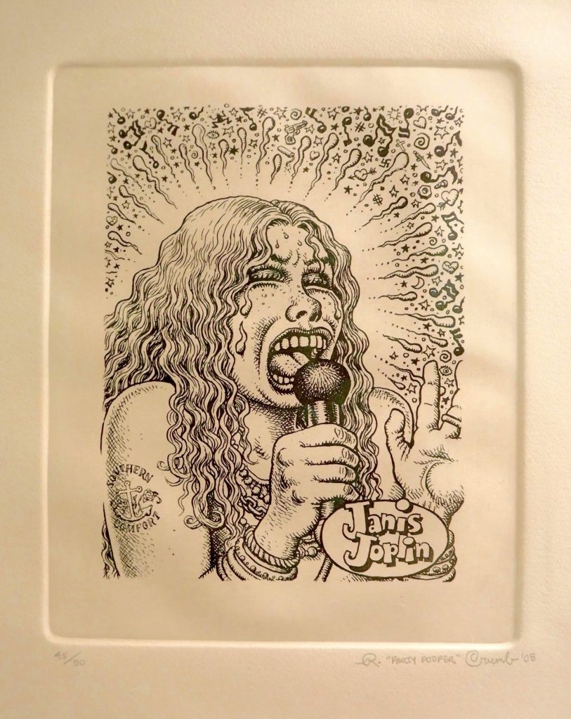 """A pencil portrati of Janis Joplin by R. Crumb, which was originally intended to be the cover art for her """"Cheap Thrills"""" album."""