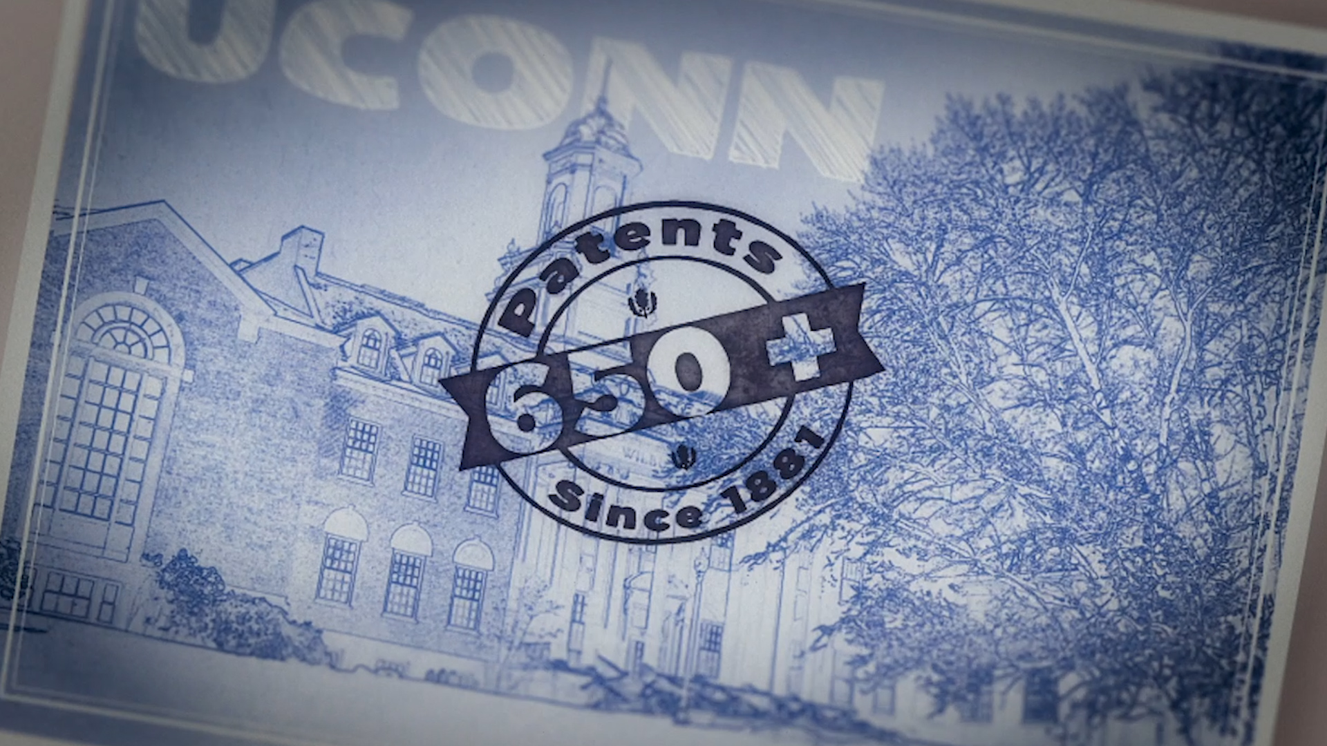 A graphic that touts UConn's inventions.