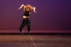A member of the UConn Dance Company performing during the Winter Showcase on Feb. 4, 2020. (UConn Photo/Sean Flynn)
