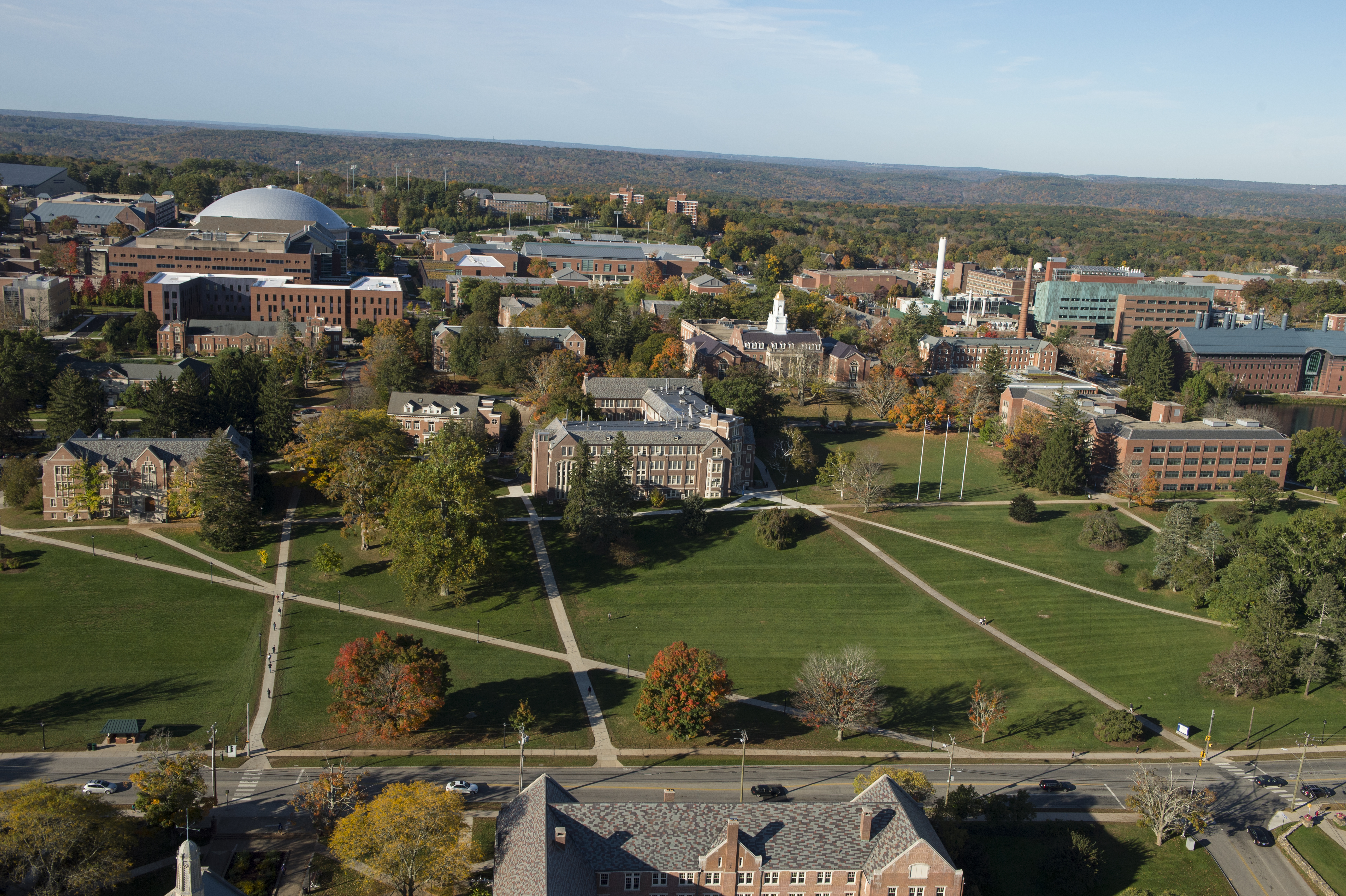 Aerial View of the UConn campus