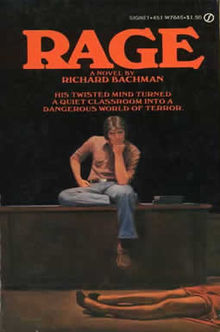 "The cover to a paperback edition of Stephen King's ""Rage,"" about school shootings."