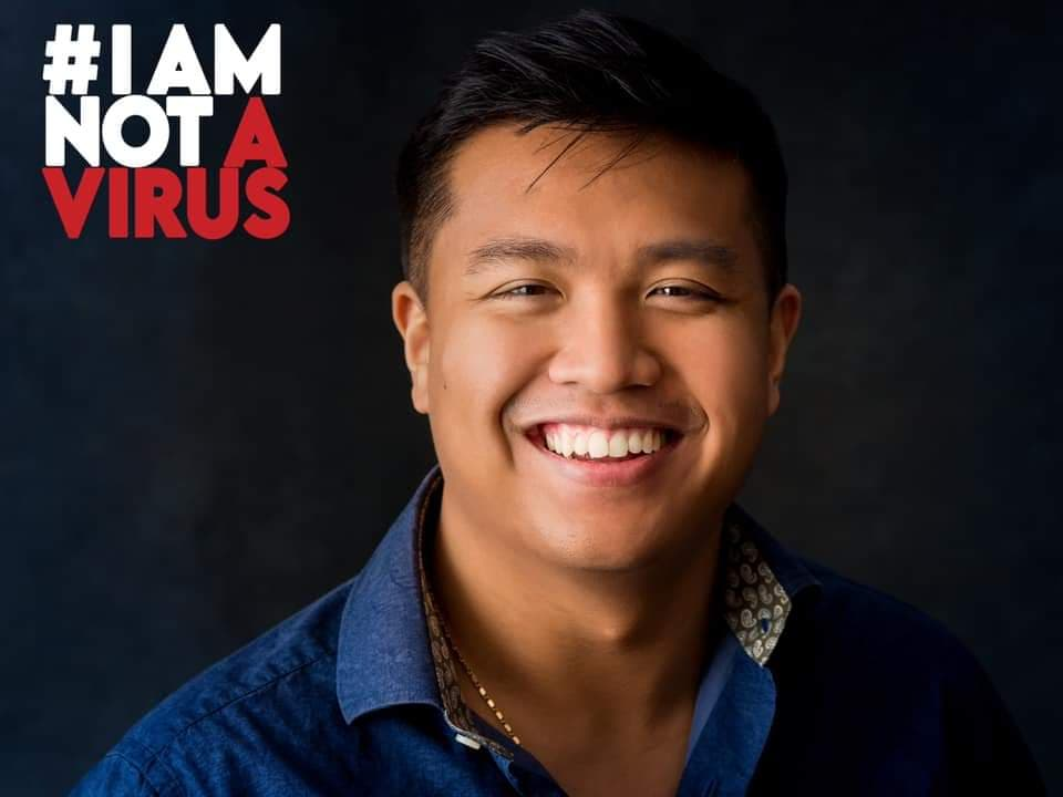 One of the images used in the #IAMNOTAVIRUS campaign, featuring Brandon Phai, a youth coding instructor