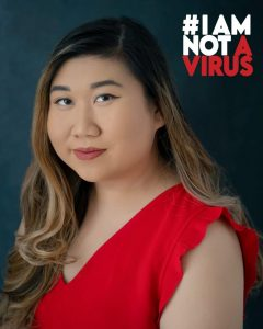 UConn MSW student Kelly Ha's portrait in the #IAMNOTAVIRUS campaign.