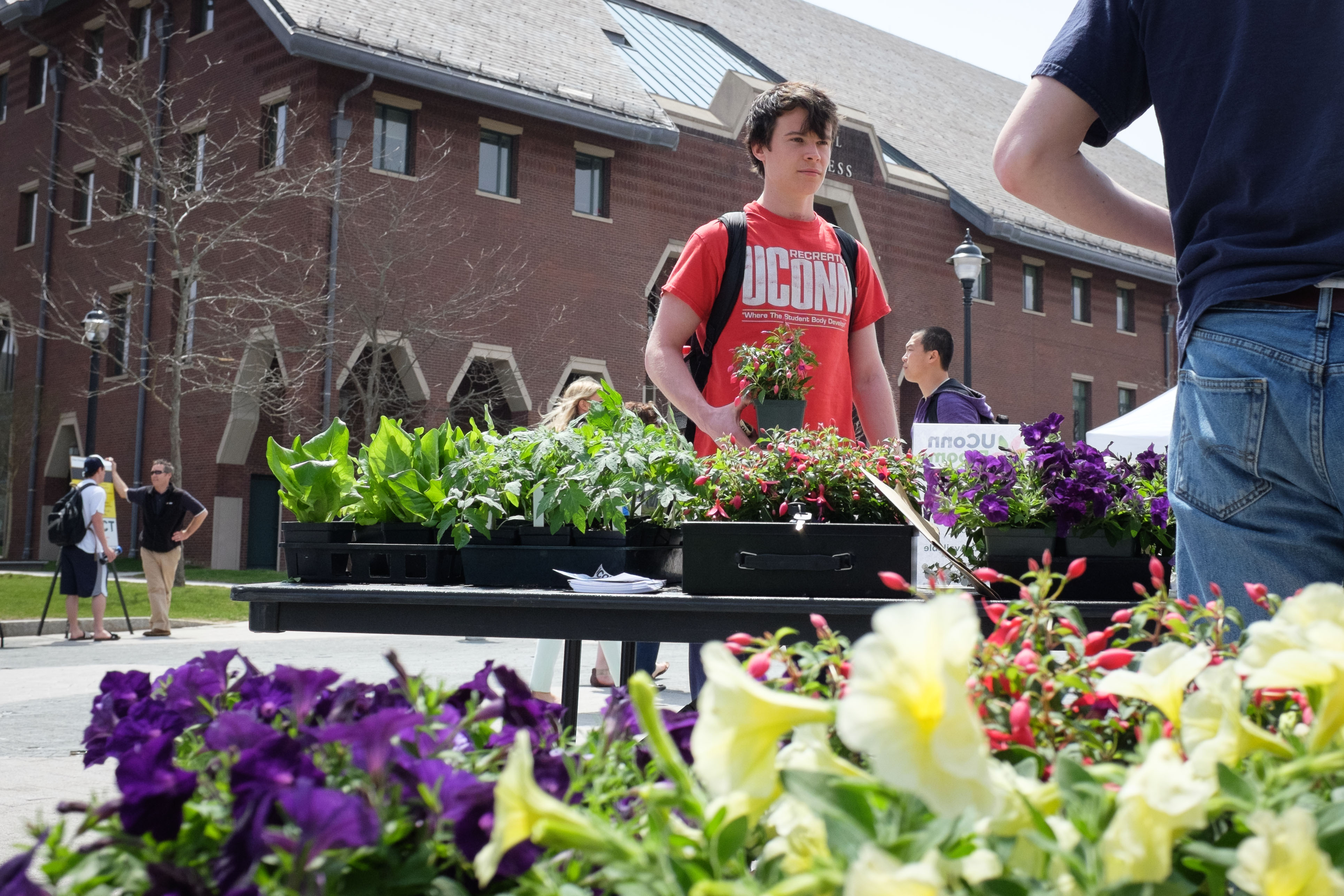 The annual Earth Week Spring Fling on Fairfield Way is one of the many University-wide efforts to incorporate sustainability into all facets of campus life. (Peter Morenus/UConn Photo)