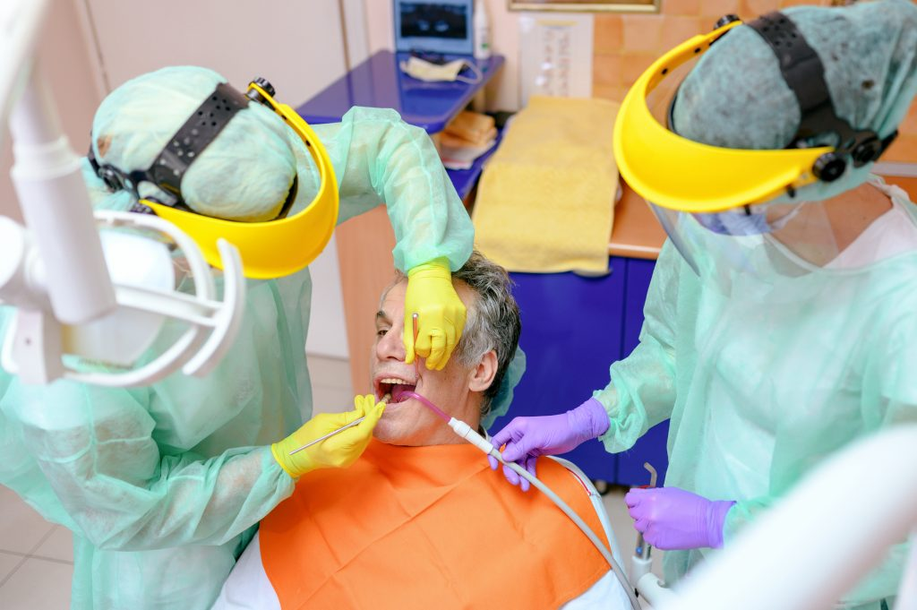 The research suggests that current infection control recommendations from the Center for Disease Control (CDC) will continue to contribute to the reduced risk of developing infection during the delivery of oral health care. (Getty Images)