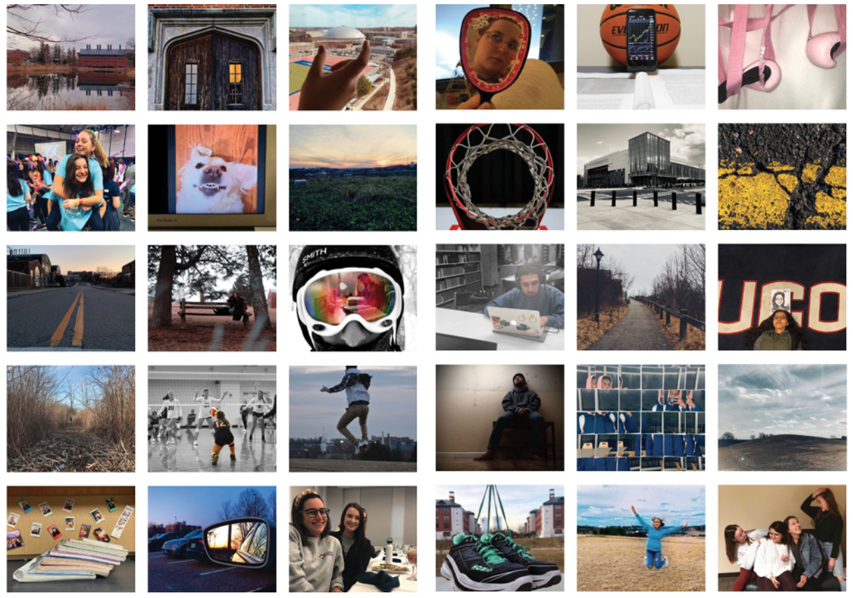 Collage of photos submitted by students for Communication video.