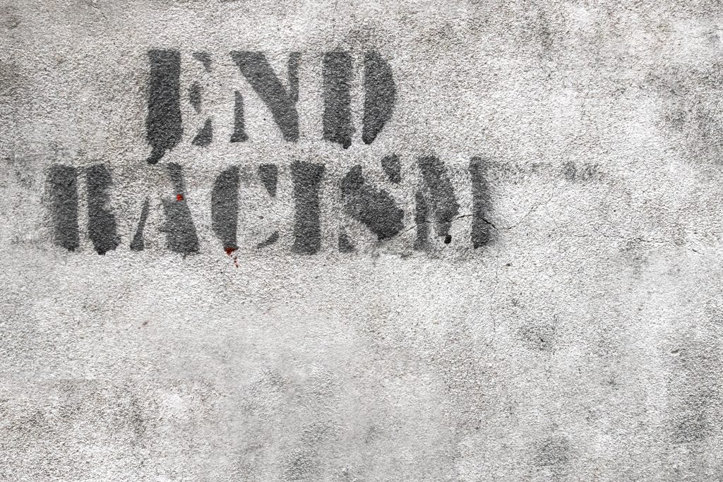 End racism graphic.