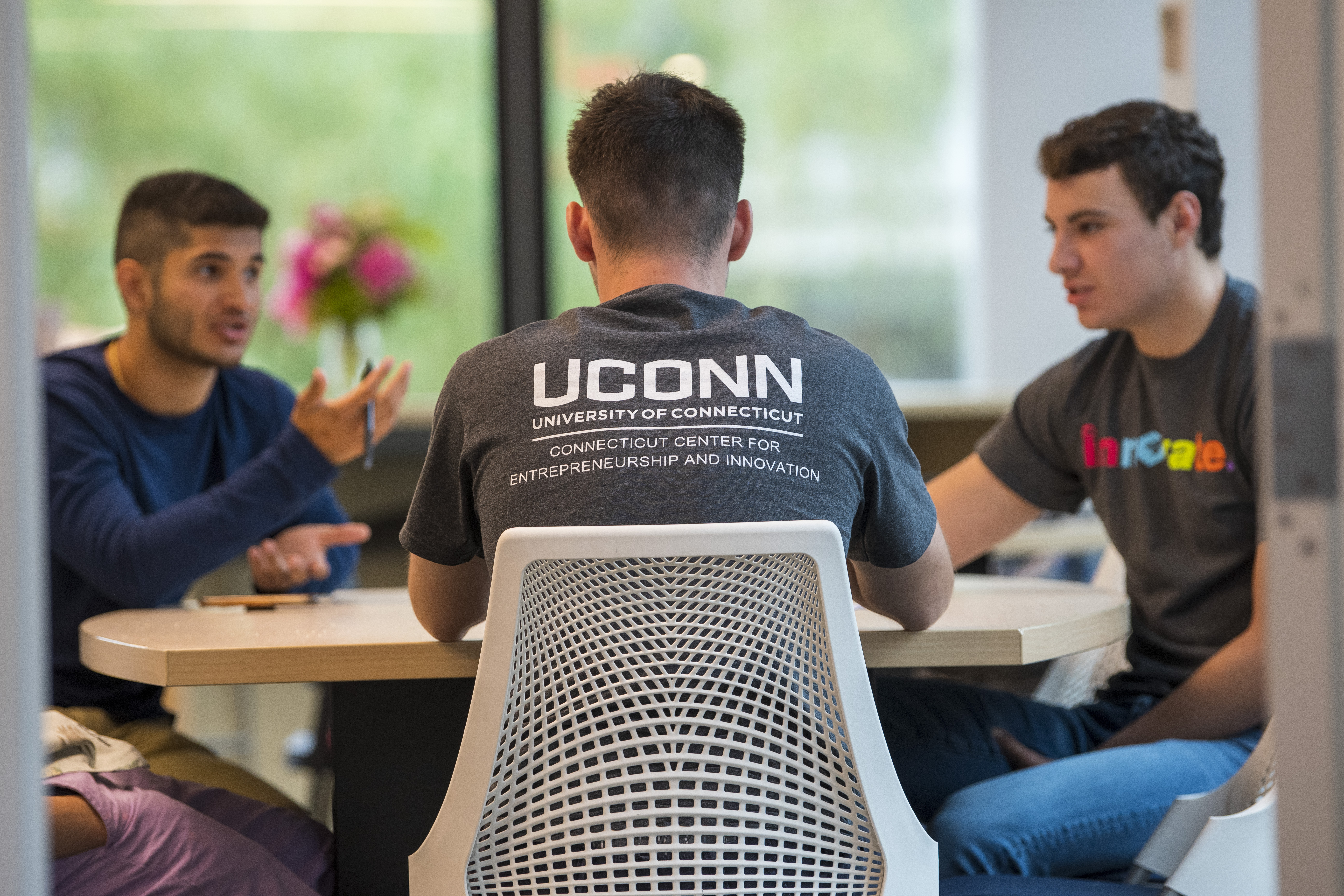 Students at UConn's Connecticut Center for Entrepreneurship