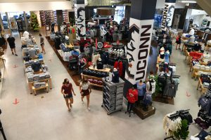 A view of the UConn Bookstore on Aug. 14, 2020. (Peter Morenus/UConn Photo)