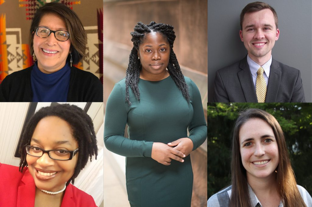 Five new faculty specializing in social justice research join the College of Liberal Arts and Sciences.