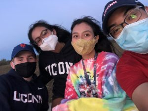 Although things are different, the core of the UConn experience - even with masks mandatory - remains the lifelong bonds forged on campus. (Courtesy of RJ Streater)