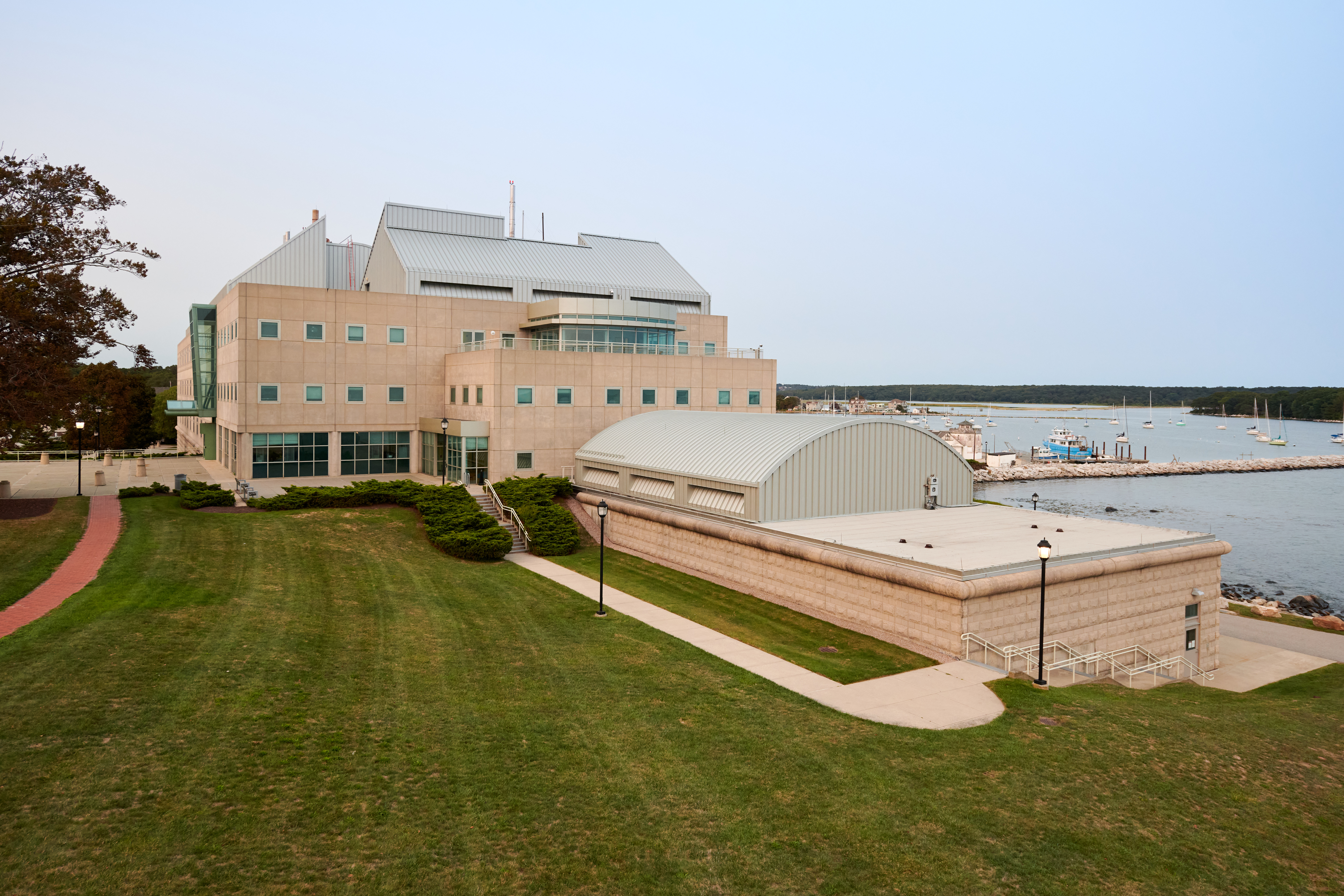 A view of the Marine Sciences Building at the Avery Point campus