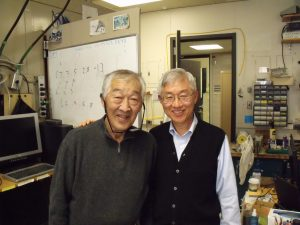 Shig Kuwada and Duck Kim Apr 2010 in the lab
