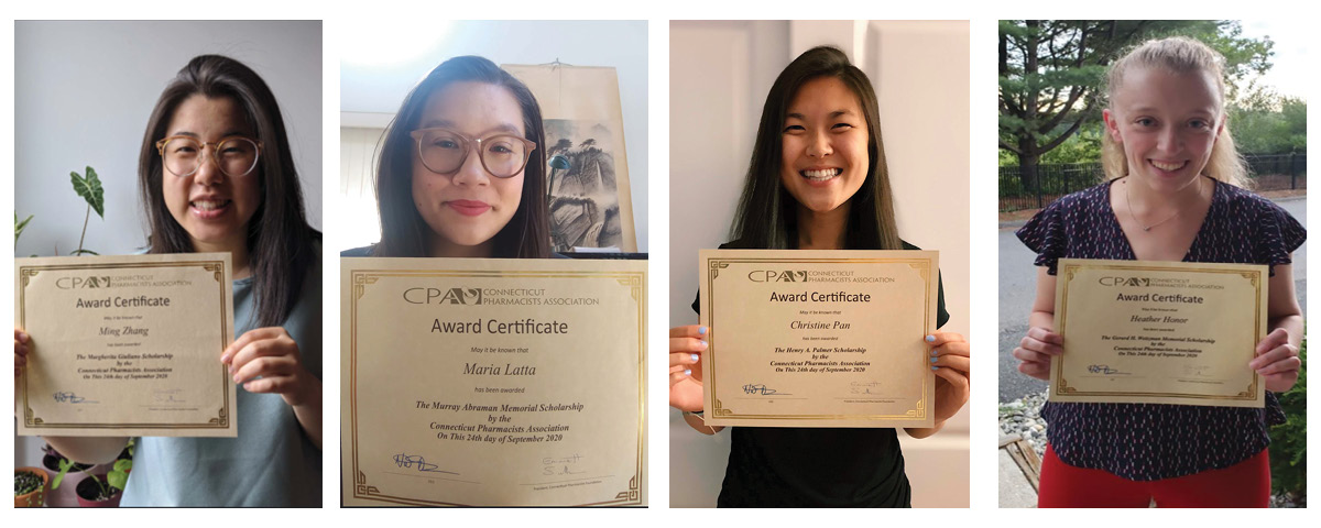 UConn Pharmacy Students with their CPA Awards