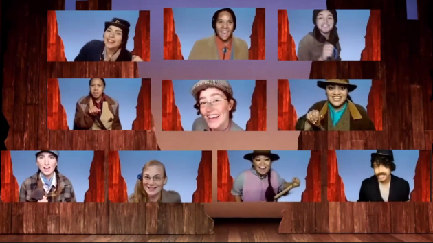 """Actors rehearse via Zoom for CRT's Fall production of """"Men On Boats"""""""
