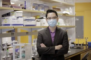 Professor Yupeng Chen in his lab
