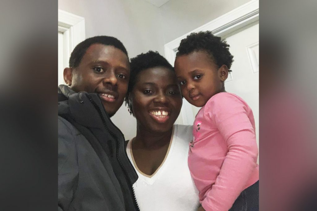 Semeda Amegashie and her husband and daughter, Raymond Owusu Sotia and Michelle Owusu Sotia.