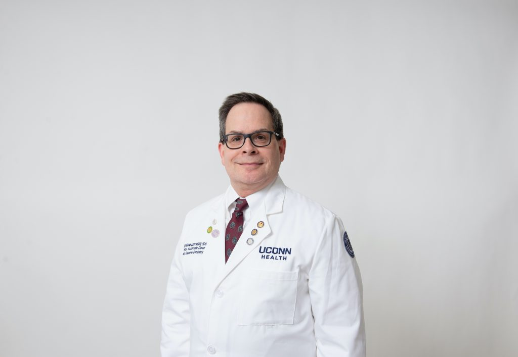 Headshot of Steven Lepowsky DDS is the senior associate dean for education and patient care, an associate professor of craniofacial sciences, and the chair of the Division of General Dentistry at the UConn School of Dental Medicine and UConn Health