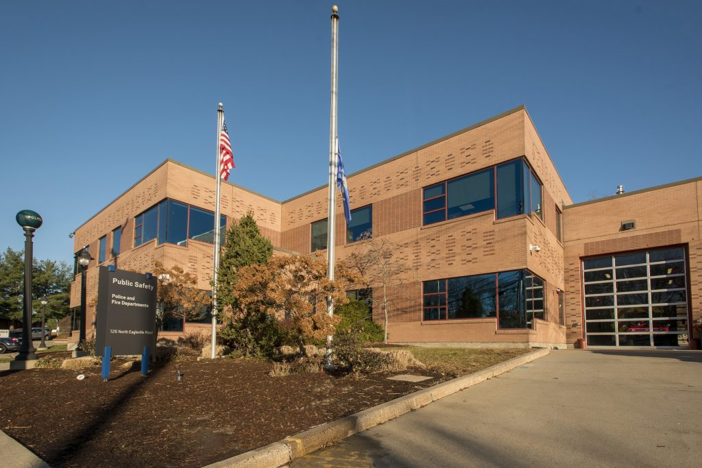 Public Safety building where police and fire departments are located.
